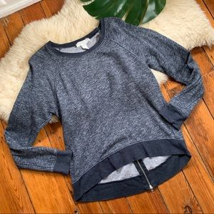 Forever21💕Knit Sweater Back ZIP Up Train Sweater